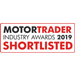 We're were shortlisted for the motor trader industry awards 2019